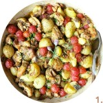 Chicken Thigh Casserole with New Potatoes and Tomatoes // FoodNouveau.com