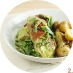 Prosciutto-Wrapped Chicken Fillets with Asparagus Pesto Sauce // FoodNouveau.com