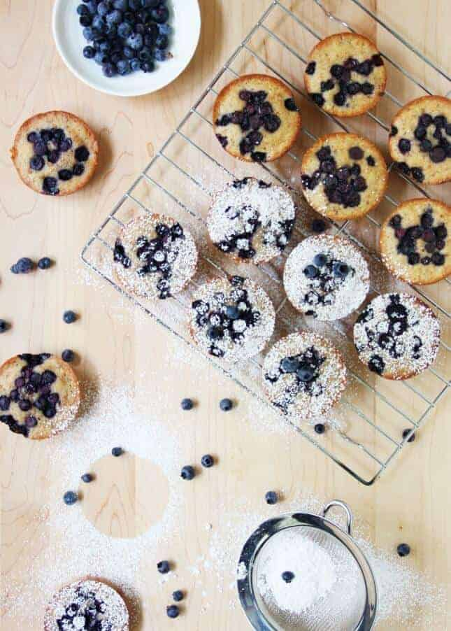 Wild Blueberry Brown Butter Financiers // FoodNouveau.com