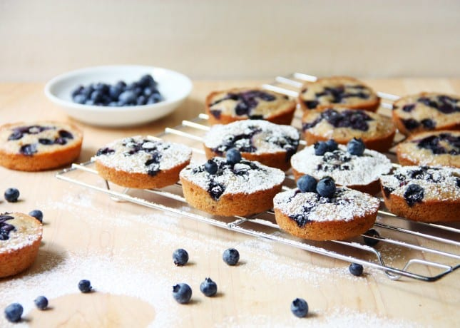 Wild Blueberry Financiers // FoodNouveau.com