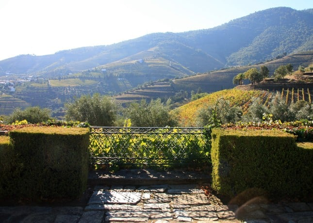 The view from the terrace at Ramos Pinto's Quinta do Bom Retiro, Douro Valley, Portugal // FoodNouveau.com