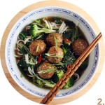 Ginger, Sesame and Coriander Meatball Soup // FoodNouveau.com