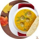 Curried Squash Soup with Lamb Meatballs // FoodNouveau.com