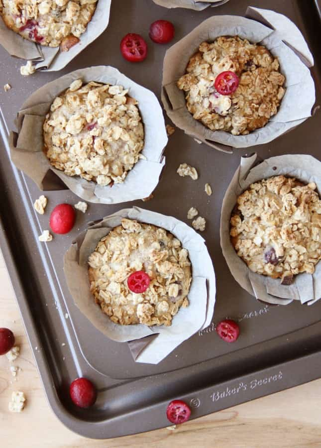Maple and Cranberry Granola Muffins (Dairy Free) // FoodNouveau.com