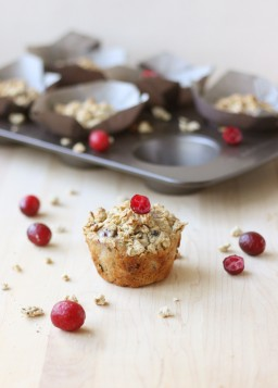 Maple and Cranberry Granola Muffins