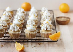 Squash and Clementine Cupcakes with Maple Swiss Meringue Buttercream