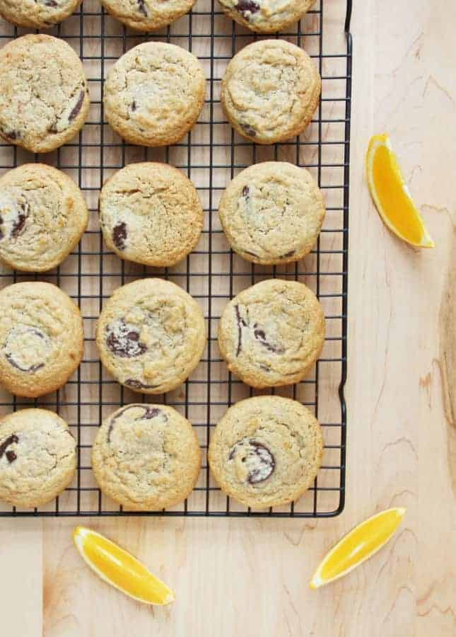 Whole Wheat Chocolate Chunk and Clementine Cookies // FoodNouveau.com