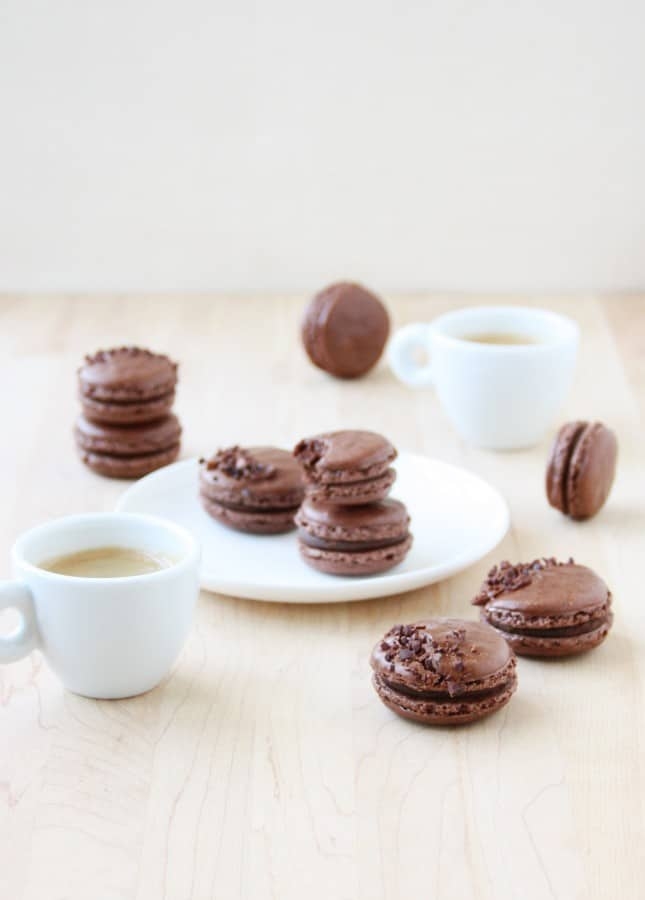 Dark Chocolate Macarons // FoodNouveau.com
