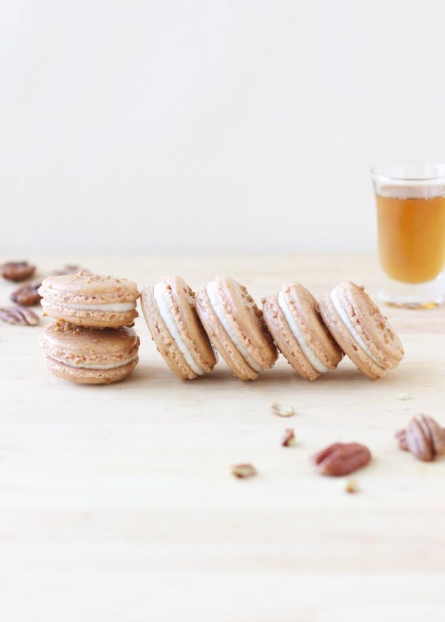 Pecan Maple Macarons // FoodNouveau.com