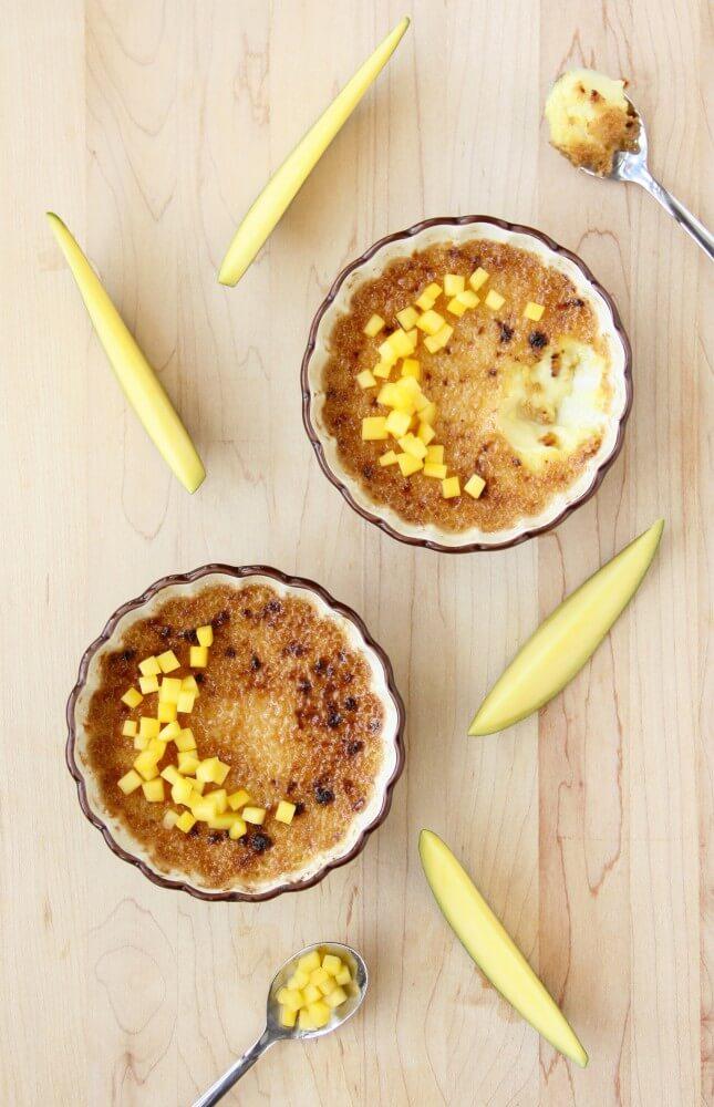 Passion Fruit-Mango Crème Brûlée (Dairy Free) | Food Nouveau