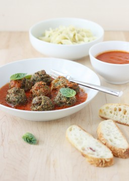 No-Roll Turkey Meatballs with Spinach and Raisins