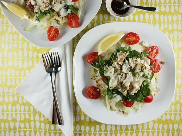 Fennel, Tomato, Watercress, and Flaked Fish Salad // FoodNouveau.com