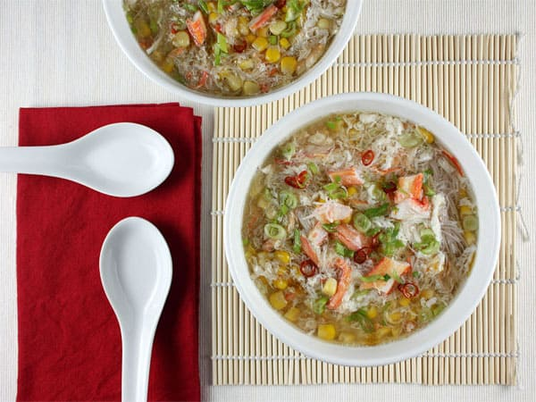 Asian Crab and Corn Soup // FoodNouveau.com