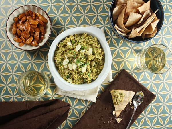 Green Olive, Lemon, and Almond Tapenade // FoodNouveau.com