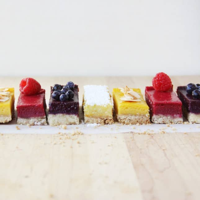 Fruit Squares for All Seasons: A Versatile Formula to Turn Seasonal Bounty into Delightful Treats (Dairy-Free, Gluten-Free Options) // FoodNouveau.com