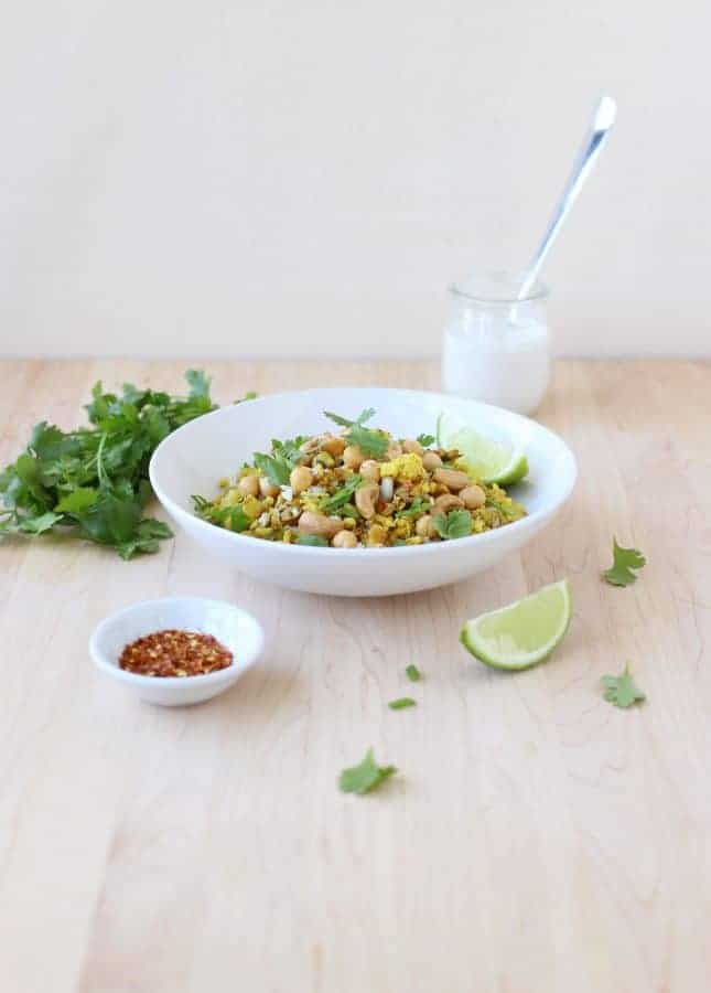 Curried Cauliflower Fried Rice // FoodNouveau.com