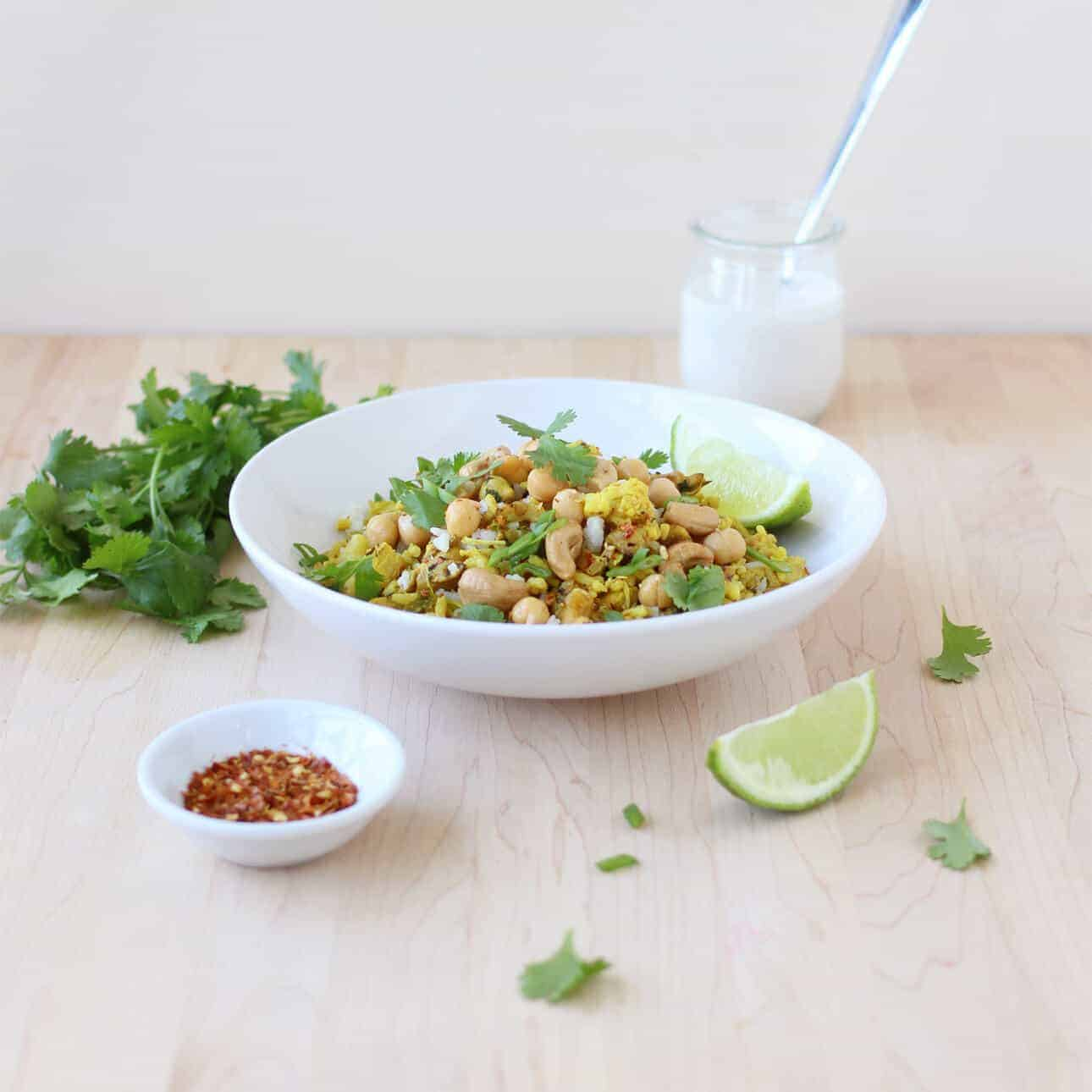 Curried Cauliflower Fried Rice // FoodNouveau.com