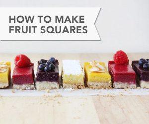 How to Make Fruit Squares // FoodNouveau.com