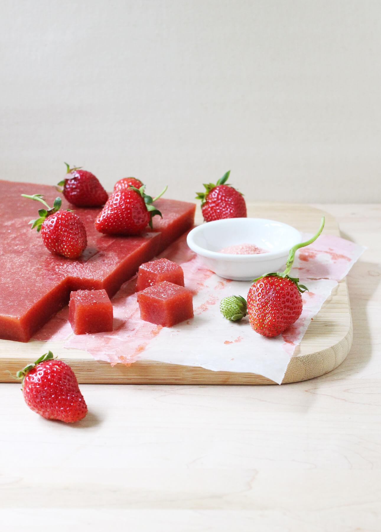 strawberry rhubarb pate de fruit strawberry rhubarb pate de fruit