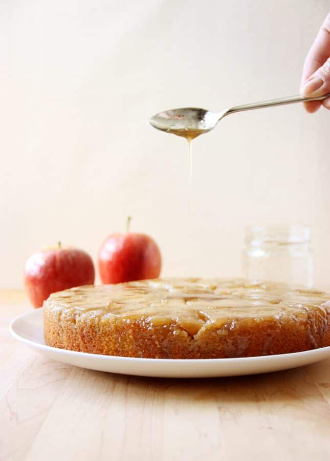 Tatin Cake (a.k.a. Upside-Down Apple Cake with Maple Caramel Sauce) // FoodNouveau.com