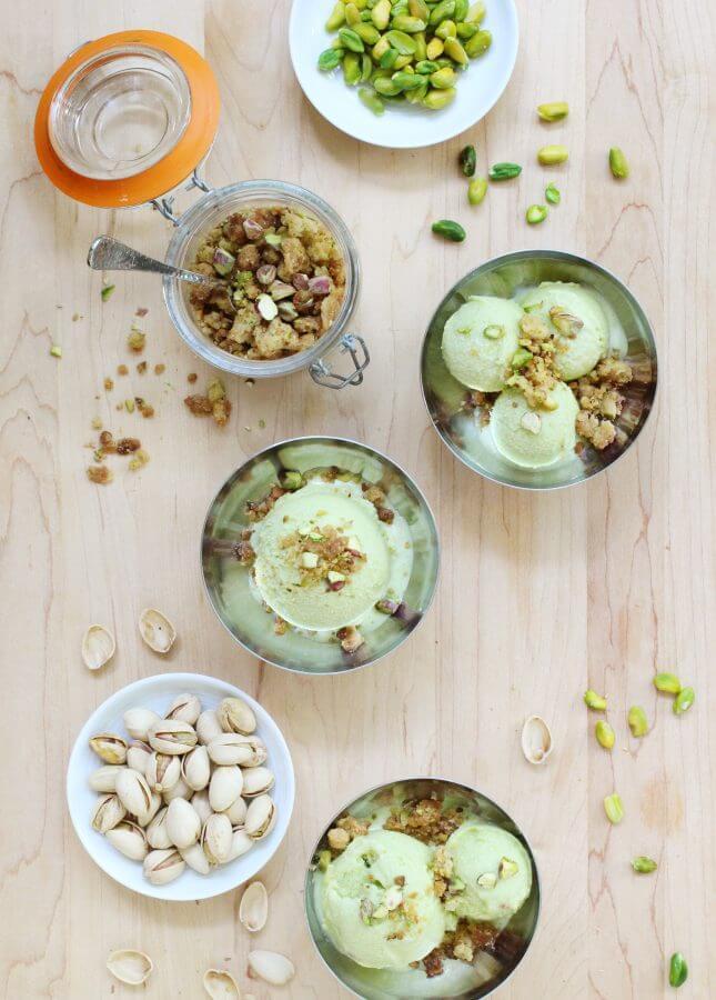 Pistachio Gelato, Made with Homemade Pistachio Paste // FoodNouveau.com