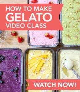 How to Make Gelato Video Class: Watch Now! // FoodNouveau.com