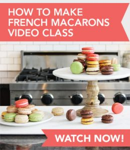 How to Make French Macarons Video Class: Watch Now! // FoodNouveau.com