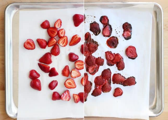 Maple-Roasted Strawberries // FoodNouveau.com