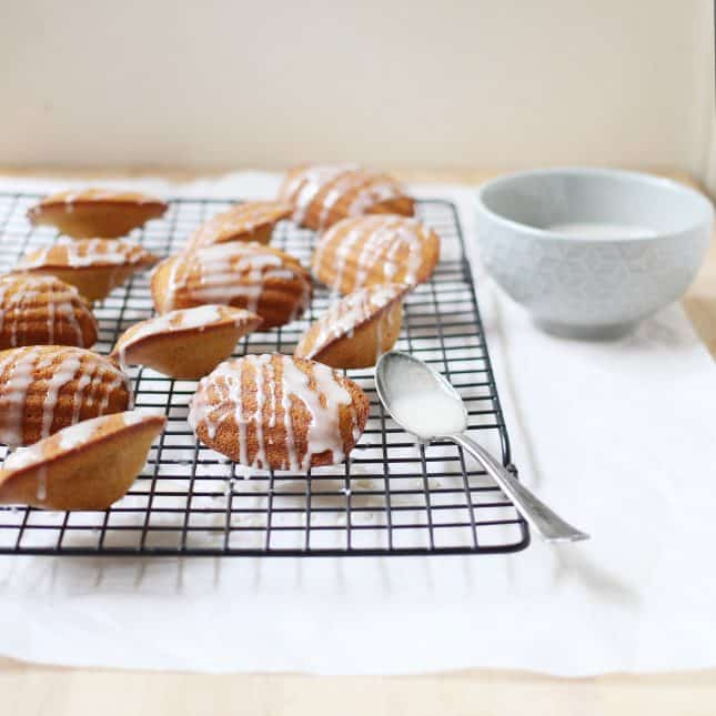 Pumpkin Madeleines with Spiced Maple Glaze // FoodNouveau.com