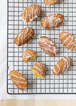 Pumpkin Madeleines with Spiced Maple Glaze