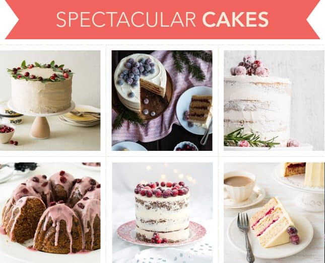 Holiday-worthy recipes to make spectacular festive cakes with cranberries // FoodNouveau.com