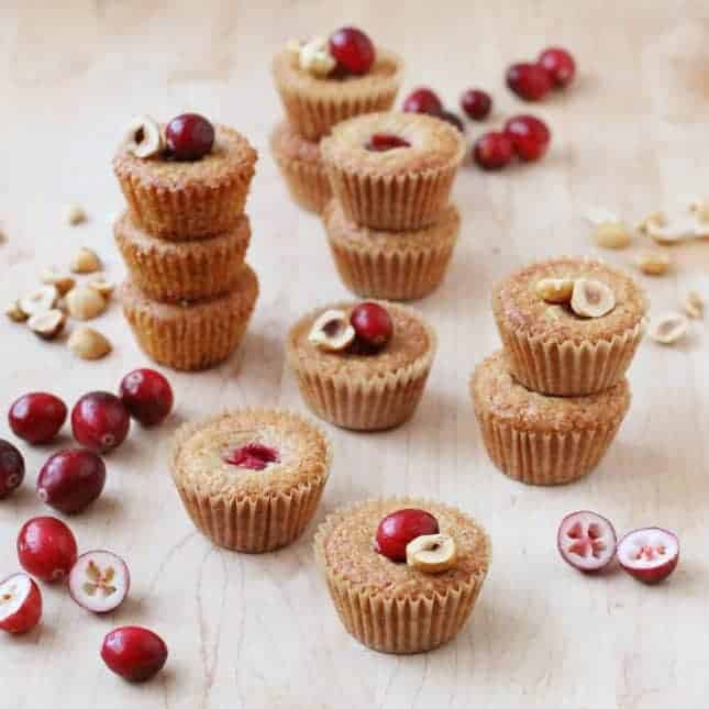 Fresh Cranberry and Hazelnut Financiers // FoodNouveau.com