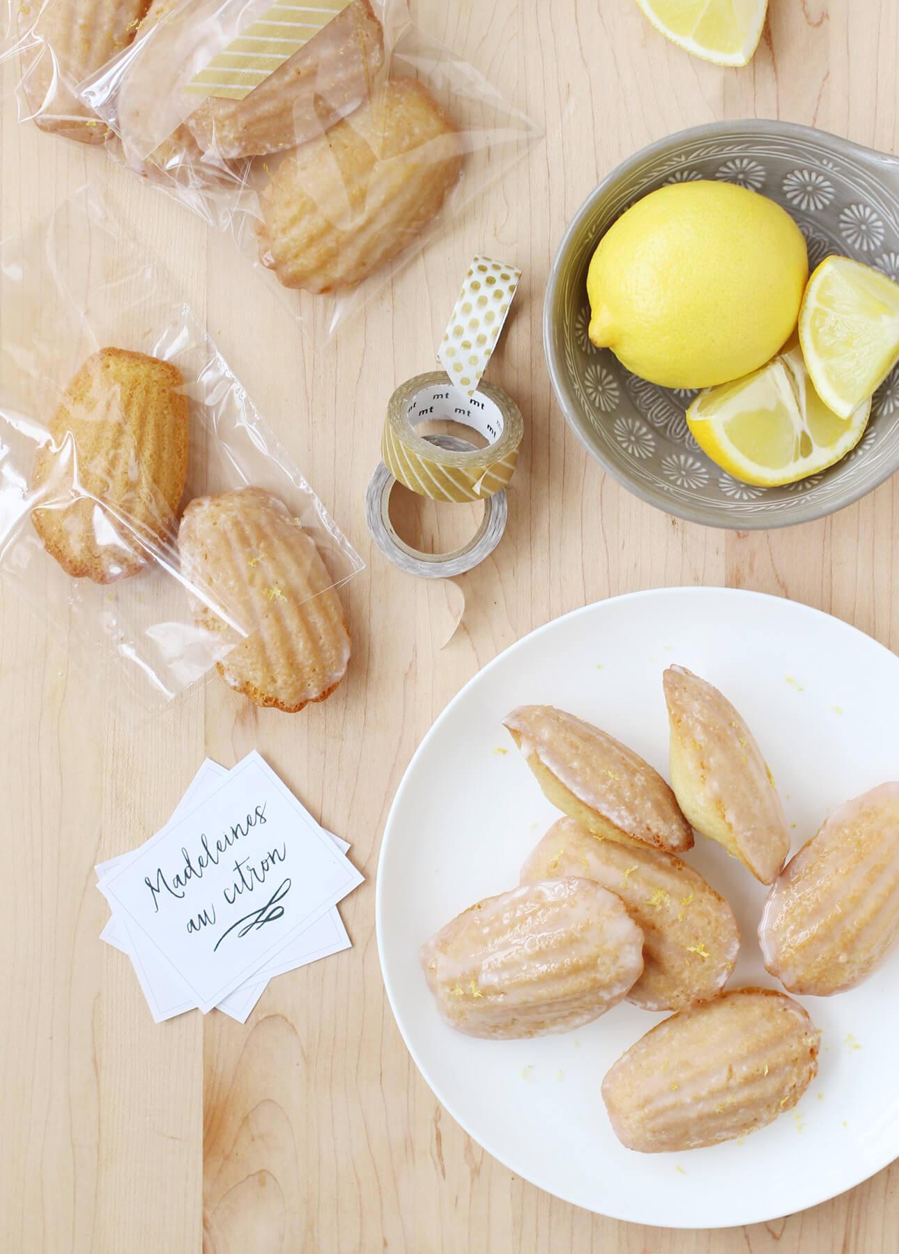 Lemon-Glazed Madeleines // FoodNouveau.com