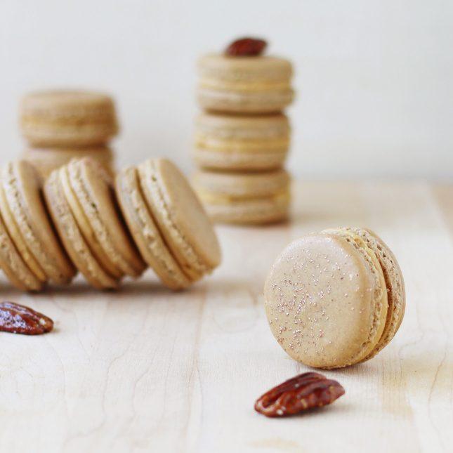Salted Caramel Pecan Macarons // FoodNouveau.com