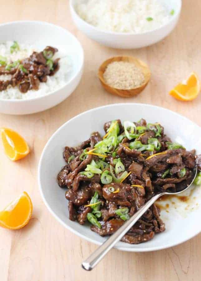 Superfast Sesame Orange Beef Stir-Fry // FoodNouveau.com