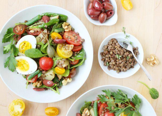 Lentil Niçoise Salad // FoodNouveau.com