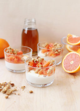 Cara Cara Orange and Maple Panna Cotta with Pecan-Maple Crumble