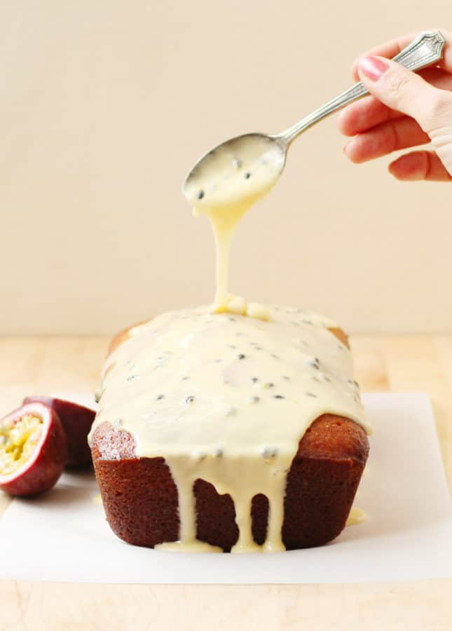 Passion Fruit and Lemon Drizzle Cake // FoodNouveau.com