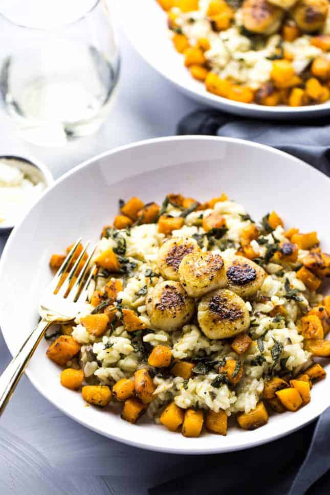 {Cooking with Friends} Seared Scallops with Butternut Squash Risotto, by The Girl on Bloor // FoodNouveau.com