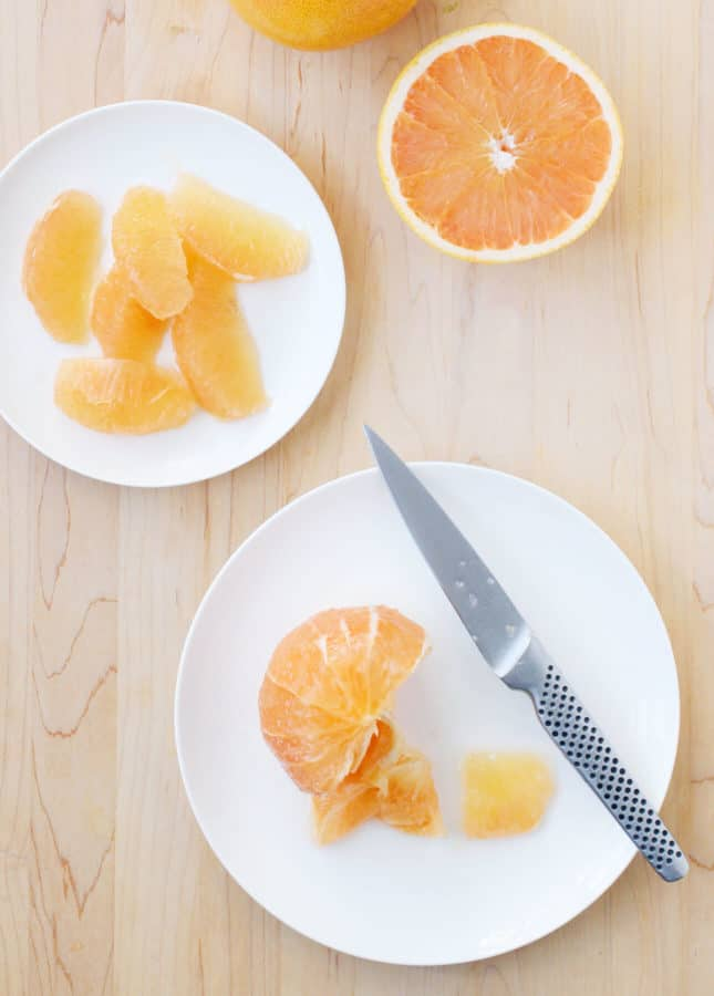 Making grapefruit segments // FoodNouveau.com