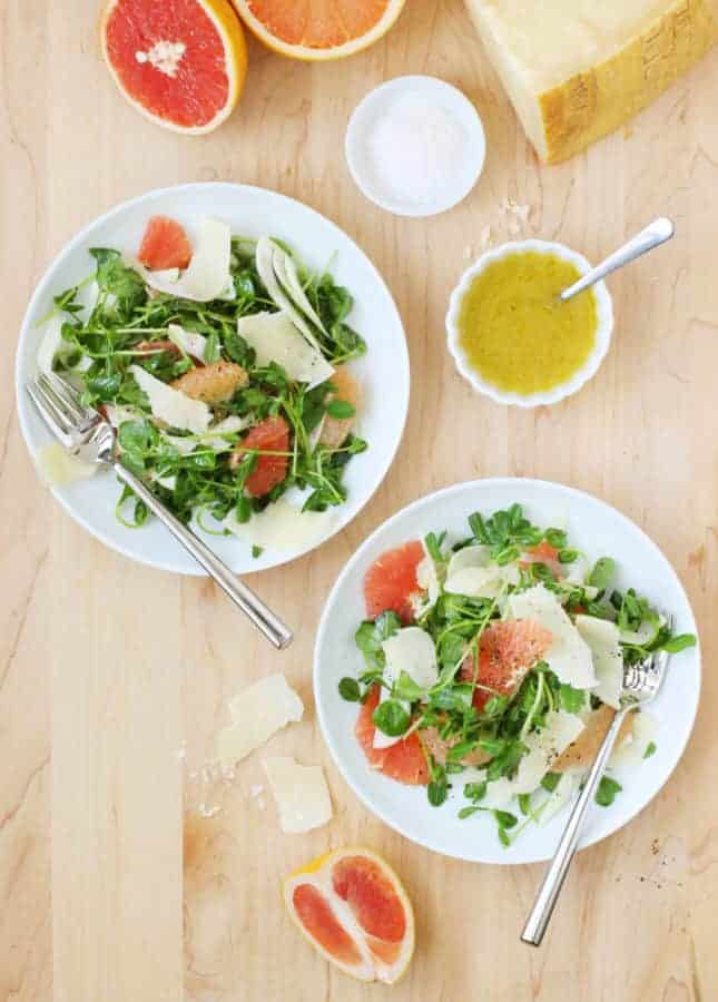 Grapefruit, Fennel, and Parmesan Salad // FoodNouveau.com