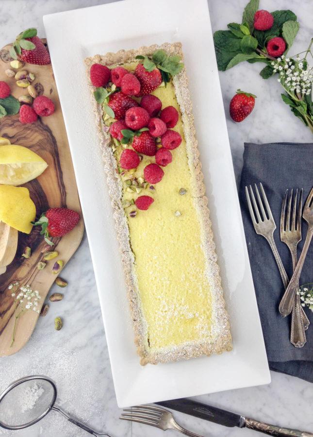 Gluten-Free Lemon Curd Tart, by Eyecandypopper.com // FoodNouveau.com