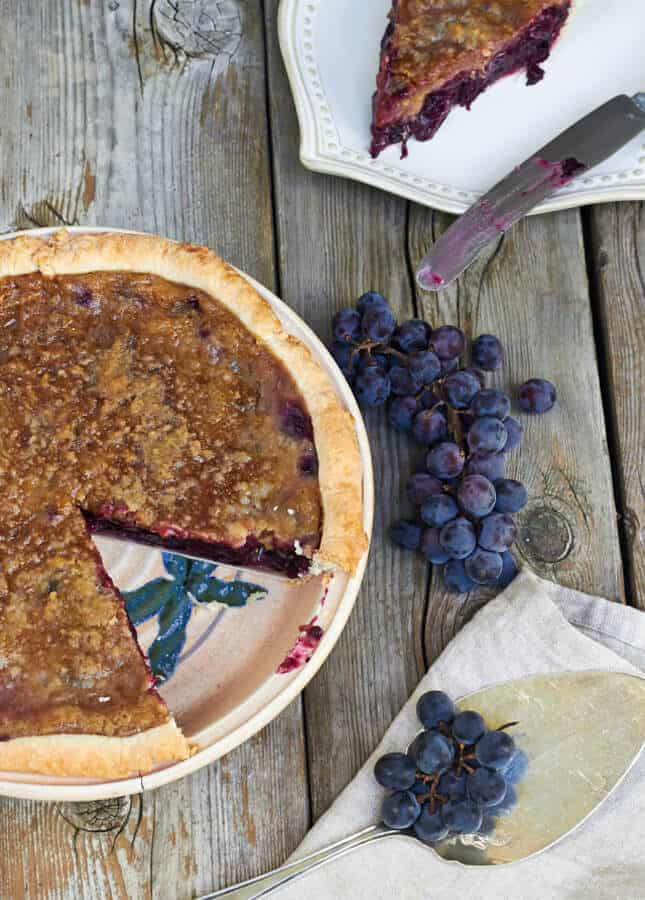 Concord Grape Pie, by The Messy Baker // FoodNouveau.com