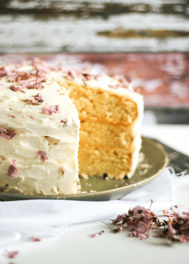 Spring Cherry Blossom Lemon Cake // Food Nouveau