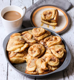 {Cooking with Friends} Sticky Maple Buns with Sweet Tahini Glaze, by Cocoa Bean, the Vegetable