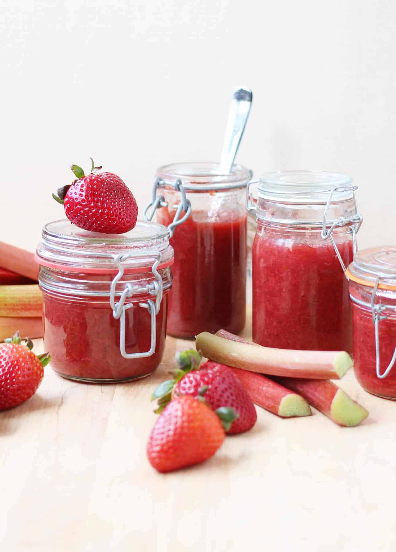 Rosé, Strawberry, and Rhubarb Compote