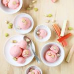 Rhubarb Gelato: A seasonal treat that sings of spring! // FoodNouveau.com