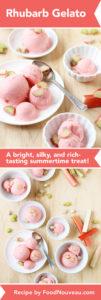 Rhubarb Gelato // FoodNouveau.com