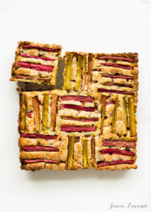 Rhubarb Pumpkin Seed Cake, by Kitchen Heals Soul // FoodNouveau.com