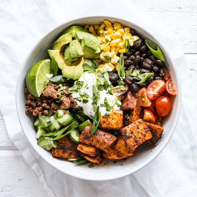 Sweet Potato Taco Bowl, by My Kitchen Love // FoodNouveau.com